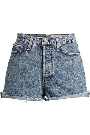 RAG&BONE Women's Maya High-Rise Denim Shorty Shorts - Calypso - Size 26