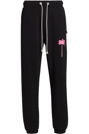 Palm Angels Men's Logo Sweatpants - Fuschia - Size Medium