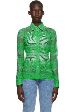 Ganni Green Lace Shirt