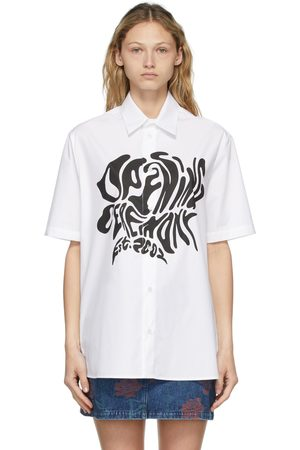Opening Ceremony Women Short sleeves - White Melted Logo Short Sleeve Shirt