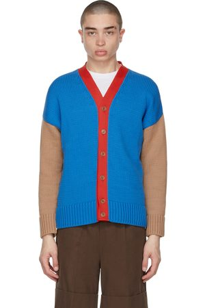 Opening Ceremony Men Cardigans - Multicolor Combo Dropped Cardigan