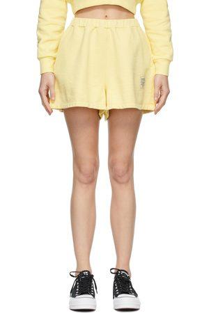 Opening Ceremony Women Shorts - Yellow Warped Logo Sweat Shorts