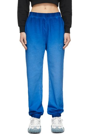Opening Ceremony Blue Faded Rose Crest Lounge Pants