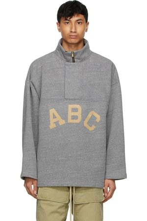 FEAR OF GOD Grey 'ABC' Pullover Zip-Up Sweater