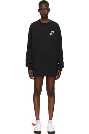 OFF-WHITE Women Casual Dresses - Check Arrows Sweater Dress