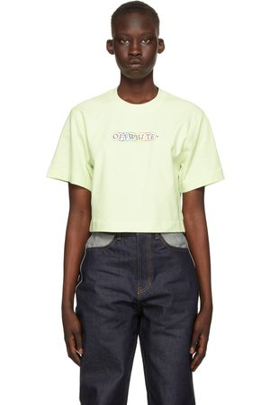 OFF-WHITE Women T-shirts - Cropped Cards Logo T-Shirt