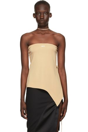 OFF-WHITE Women Strapless Tops - Strapless Romantic Top
