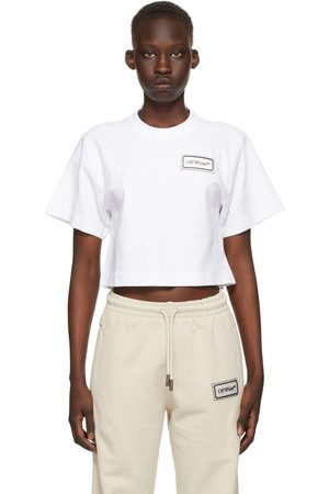 OFF-WHITE Cropped Logo Patch T-Shirt