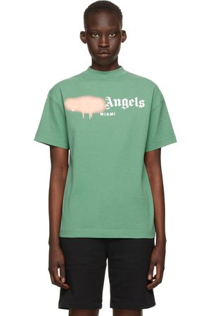 Palm Angels Green GD Bear Head Classic T-Shirt