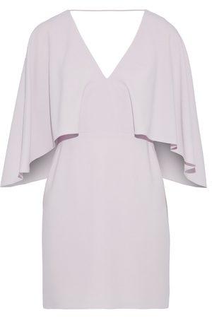 Halston Heritage Women Party Dresses - Woman Cape-effect Crepe Mini Dress Lilac Size 8