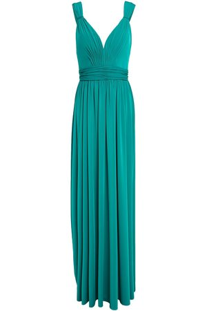 Catherine Deane Woman Caterina Gathered Stretch-jersey Gown Jade Size 10