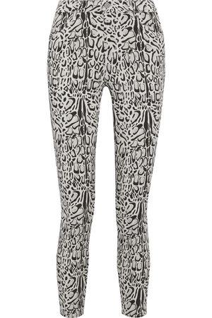 J Brand Woman Alana Leopard-print Mid-rise Skinny-leg Jeans Size 24