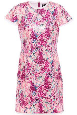 Rachel Zoe Women Casual Dresses - Woman Lili Sequined Printed Jersey Mini Dress Size 0