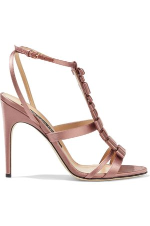 Sergio Rossi Woman Bow-embellished Satin Sandals Antique Rose Size 36