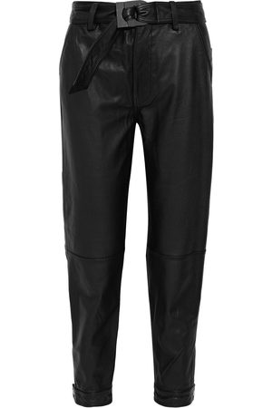 J Brand Woman Jonah Belted Leather Tapered Pants Size 24
