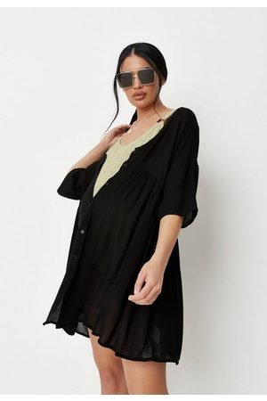 Missguided Women Beachwear - Cheesecloth Beach Cover Up Maternity Dress