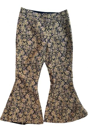 MOTHER OF PEARL \N Cotton Trousers for Women