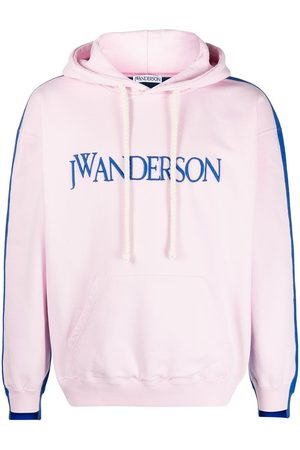 JW Anderson Deconstructed logo-embroidered hoodie