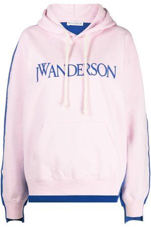 J.W.Anderson Women Hoodies - DECONSTRUCTED FLEECE BACK HOODIE