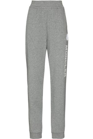 Moncler Logo-embroidered track pants - Grey