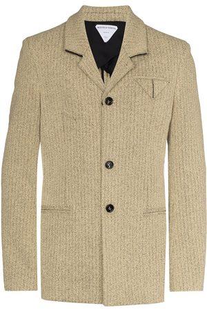 Bottega Veneta Textured single-breasted blazer - Neutrals