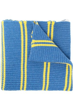 Marni Men Scarves - Dual-pattern chunky-knit scarf