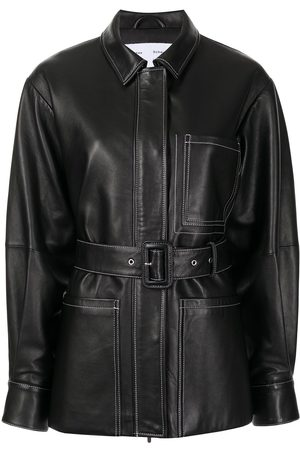 PROENZA SCHOULER WHITE LABEL Belted leather jacket