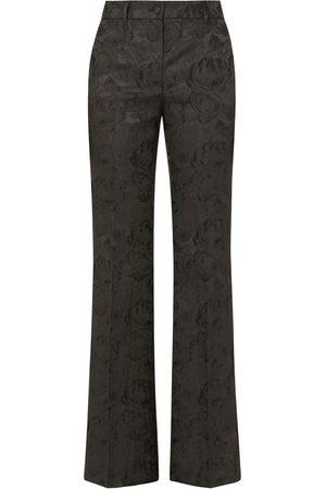 Dolce & Gabbana Jacquard-pattern high-waisted trousers
