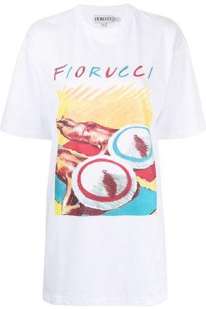 Fiorucci Women Printed Dresses - Sunbathing print T-shirt dress