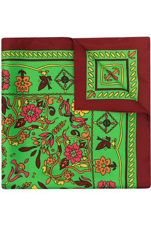 Tory Burch Floral-print silk neckerchief