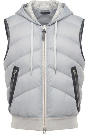 Tom Ford Men Gilets - Hooded Nylon & Jersey Vest