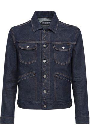 Tom Ford Men Denim Jackets - Stretch Japanese Denim Jacket