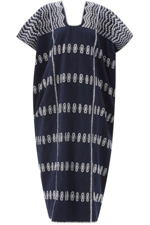 PIPPA HOLT No.270 Embroidered Cotton Kaftan - Womens - Navy