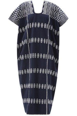 PIPPA HOLT Women Beach Dresses - No.270 Embroidered Cotton Kaftan - Womens - Navy