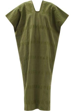PIPPA HOLT Women Beach Dresses - No.255 Embroidered Cotton Kaftan - Womens - Khaki
