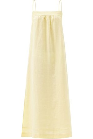 Casa Raki Vicky Tie-back Organic-linen Dress - Womens