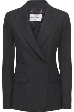 Salvatore Ferragamo Single Breast Wool Blazer