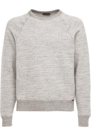 Tom Ford Men Sweatshirts - Cotton Crewneck Sweatshirt