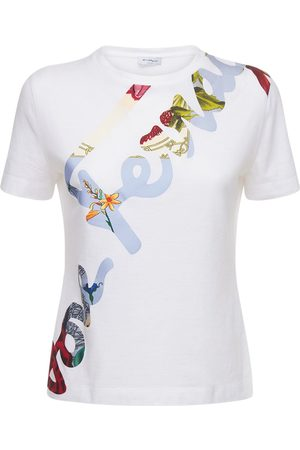 Salvatore Ferragamo Women T-shirts - Logo Cotton Jersey T-shirt