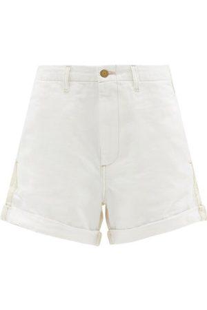 B SIDES Women Shorts - Panelled Denim Shorts - Womens