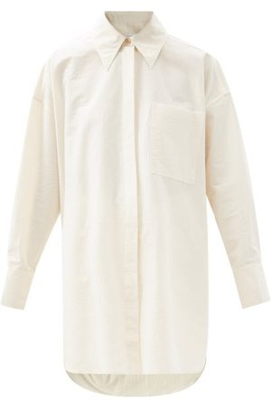 Ssone Women Shirts - Astrid Organic Cotton-blend Shirt - Womens - Ivory