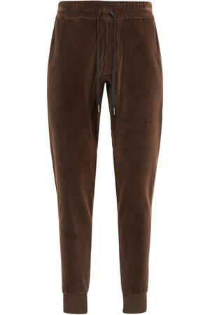Tom Ford Men Sweatpants - Cotton Blend Velour Sweatpants