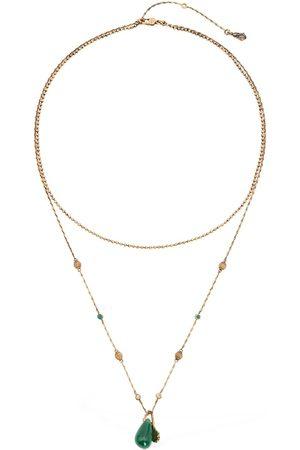 Alexander McQueen Seal Signature Double Chain Necklace