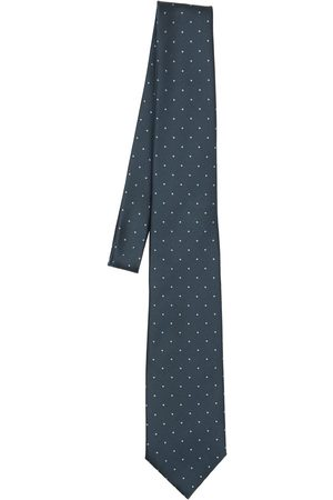 Tom Ford Men Neckties - 8cm Polka Dot Silk Jacquard Classic Tie