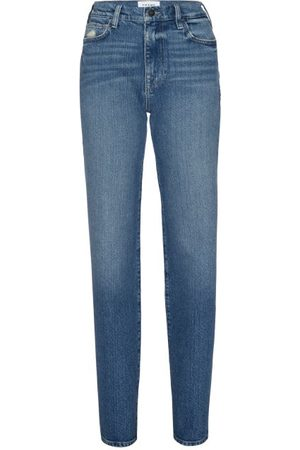Frame Women Straight - Le Jane Relaxed Straight-leg Jeans - Womens - Mid Denim