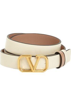 VALENTINO GARAVANI Women Belts - 2cm Go Logo Reversible Leather Belt