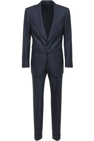 Tom Ford Single Breast Wool Check Sporty Day Suit