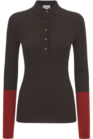 Salvatore Ferragamo Wool Blend Knit Polo