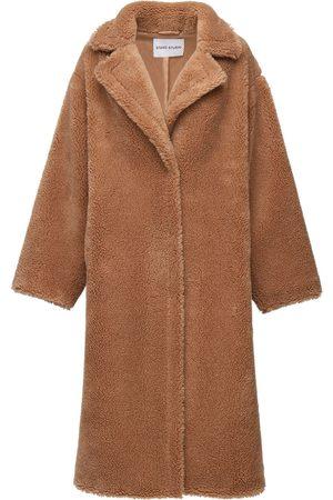 Stand Studio Maria Long Faux Teddy Coat