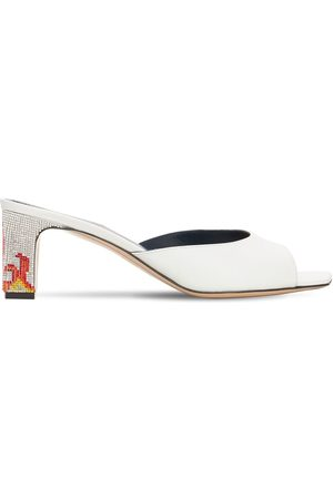 IINDACO Women Mules - 60mm Ade Leather Mules